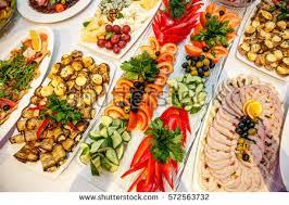 cuisine outdoor catering banquet table buffet snacks outdoor ภาพสต อก 572563732