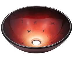 607 foil undertone glass vessel sink