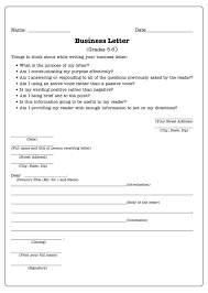 awesome collection of business letter lesson plan 6th grade on