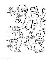 t leave the trash in the woods after a picnic earth day coloring page
