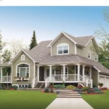 find my perfect house i love the grey white colors roof color great porches