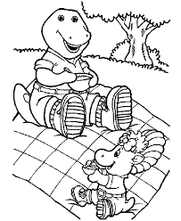 barney coloring pages 11