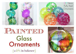 glass ornaments for