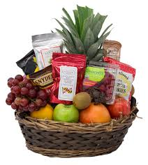 non food gift baskets fruit goodies fruit basket radebaugh florist and greenhouses