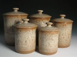 pottery canisters kitchen pottery canisters kitchen thirdbio