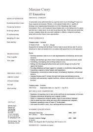 Facility Executive Resume Marketing Executive Resume Sample Pdf It Example Technology