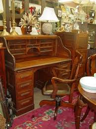 antique oak roll top desk and chair picture of antiques center