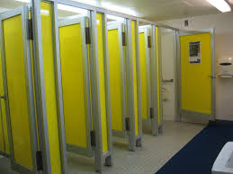 may 2012 40 pools bright yellow bathroom stalls the locker rooms