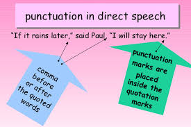 quote punctuation meaning commas in direct speech my primary classroom