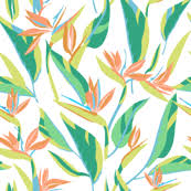 bird of paradise fabric wallpaper gift wrap spoonflower