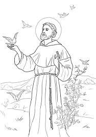 peace prayer st francis coloring free printable