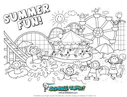 happy summer coloring getcoloringpages
