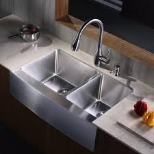 No Water In Kitchen Faucet Kitchen Sinks Prep 30 Inch Sink Double Bowl Square Brushed Chrome