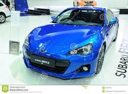 sport subaru brz bkk nov 28 subaru brz 2 0i supercar or sport car on display