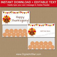 thanksgiving treat bag toppers thanksgiving bag