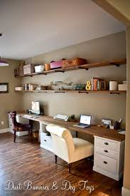 Build Simple Wood Desk by Best 25 Long Desk Ideas On Pinterest Basement Office Cheap