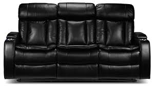 Black Fabric Reclining Sofa by Interior Impressive Spartan Reclining Sofa With Drop Down Table