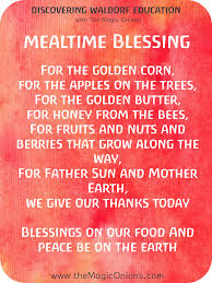 thanksgiving grace prayer 5 favorite waldorf mealtime blessing verses the magic onions