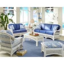 Living Room Wicker Furniture Coastal Living Room Sets You Ll Wayfair