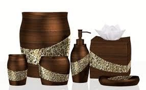 Contemporary Bathroom Accessories Sets - resin and cracked glass contemporary bathroom accessories set