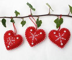 felt ornaments handmade and white snowflake