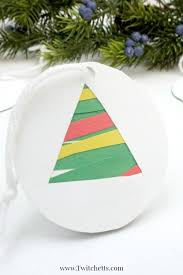 Easy Christmas Tree Decorations Easy Paper Christmas Tree Ornament Christmas Craft For Kids