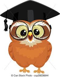 graduation owl vector illustration of an owl wearing graduation cap eps vector