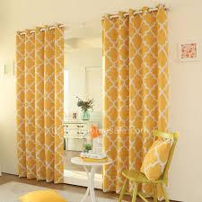 rideau chambre à coucher abordable désinvolte moderne polyester géométrique jaune chambre à