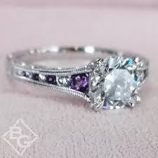 purple diamond engagement rings kara stella purple amethyst diamond engagement