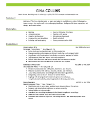 Landscaping Resume Examples Film Crew Resume Example Media Entertainment Sample Resumes
