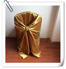 Cheap Universal Chair Covers Popular Satin Gold Tie Back Chair Covers Buy Cheap Satin Gold Tie