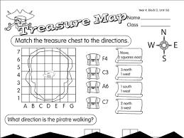 treasure map 2 a year 4 angles u0026 direction worksheet