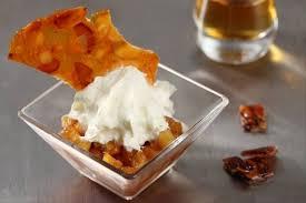 recette avec un siphon de cuisine recette de pommes caramélisées émulsion au calvados nougatine
