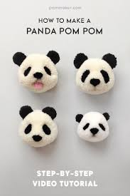 how to make a panda pompom pom maker