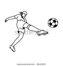 vector line sketch soccer stock vector 729660322 shutterstock