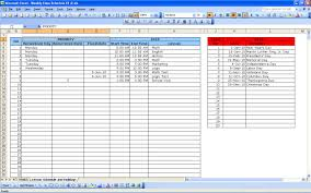 Class Schedule Excel Template Weekly Class Schedule Excel Templates