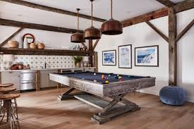 like all black with blue contrast pool table refurbish