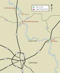Texas Rivers Map Sabine River Fishing