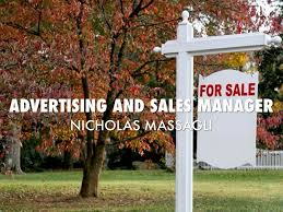Advertising Sales Manager Advertising And Sales Manager By Nicholas Massagli