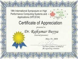 appreciation certificate certificate templates
