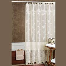 Curtains With Hooks Pine Cone Lace Shower Curtain