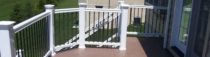 Decking Kits With Handrails Vinyl Deck Railing Kits Durables Vinyl U0026 Fairway Vinyl Decksdirect
