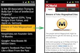 rss reader android creating a simple rss application in android android research