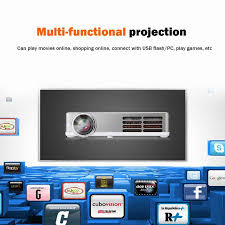 wireless projector home theater excelvan led9 portable dlp android 4 4 wifi mini projector full hd