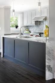 blue kitchen cabinets toronto blue kitchen island wainscoting transitional kitchen
