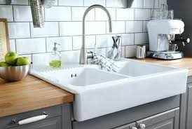 double bowl farmhouse sink with backsplash terrific kitchen sink backsplash image with apron with regard to
