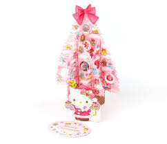 hello greeting card pop up tree ornaments sanrio