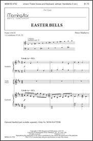 easter choral bells choral score