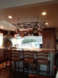 kitchen island hanging pot racks marble kitchen island pot rack exhaust alder wood autumn