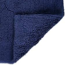 Navy Bath Mat Blue Bath Mat Bosli Club